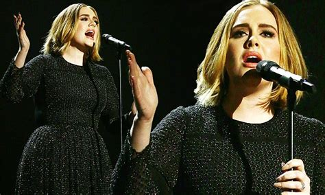 latest hairstyles 2015 daily mail adele performs hello on x factor final 2015 with new bob