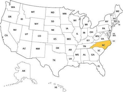 us map state highlighter facts about carolina ncpedia