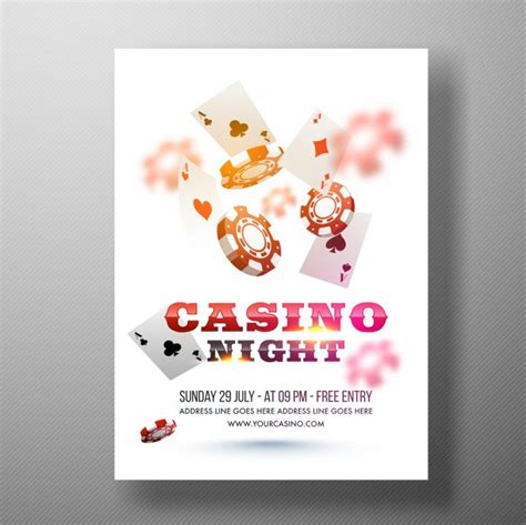 Casino Night Flyer Template Or Banner Design Vector Premium Download Casino Flyer Template Free