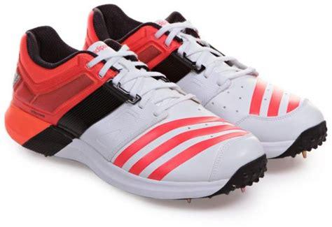 adidas spike adipower vector cricket shoes for 8 uk white orange souq uae