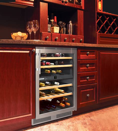 wine cabinet with refrigerator built in and freestanding liebherr wine coolers the