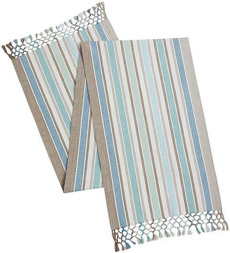stripe table runner coastal stripe table runner everything turquoise