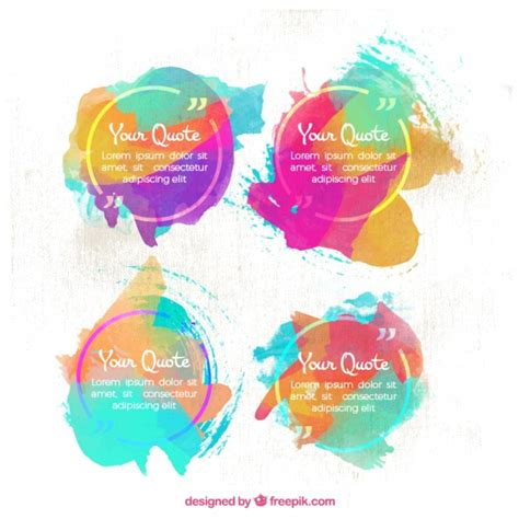 watercolor templates watercolor quote templates vector free
