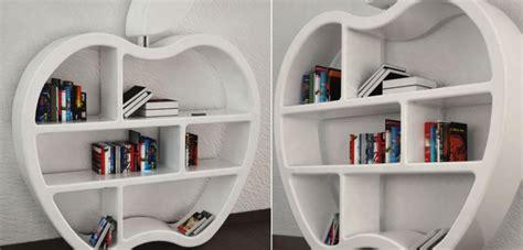 gluttony apple shaped modular bookcase column by mario di