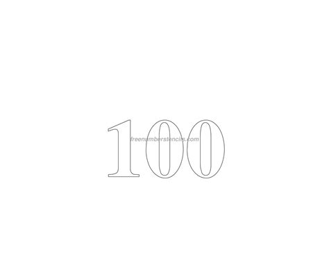 number 100 template free 100 number stencil freenumberstencils