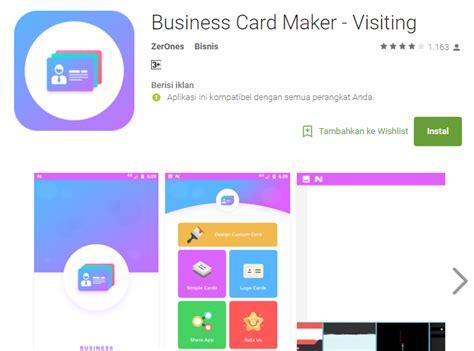 desain kartu nama android bikin kartu nama digital jadi lebih mudah dengan 6
