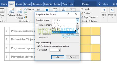 membuat angka halaman pada word cara membuat nomor halaman di word untuk pemula 100 rapi