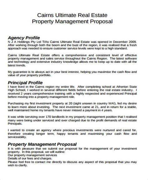 12 Real Estate Business Proposal Templates Free Sle Exle Format Download Free Rfp Template Commercial Real Estate