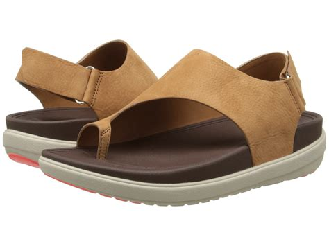 Sandal Wanita Fitflop Via Nubuck fitflop loosh nubuck in brown lyst