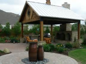 Outdoor covered patios arbors fences stone work in