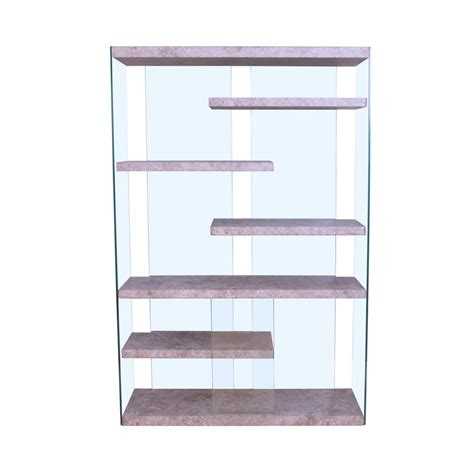 Bookcase Set Acme Furniture Boyd 6 Shelves Clear Glass Bookcase 1 Set