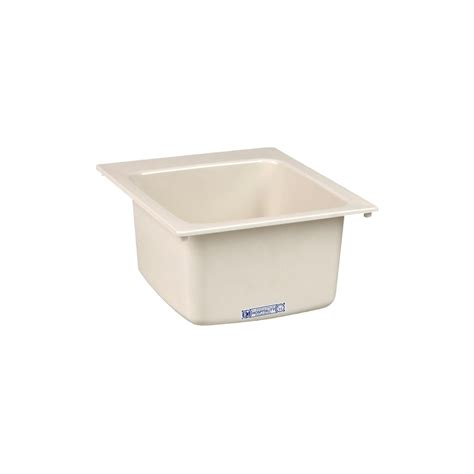 mustee 10 utility shop mustee 17 in x 20 in 1 basin biscuit self rimming