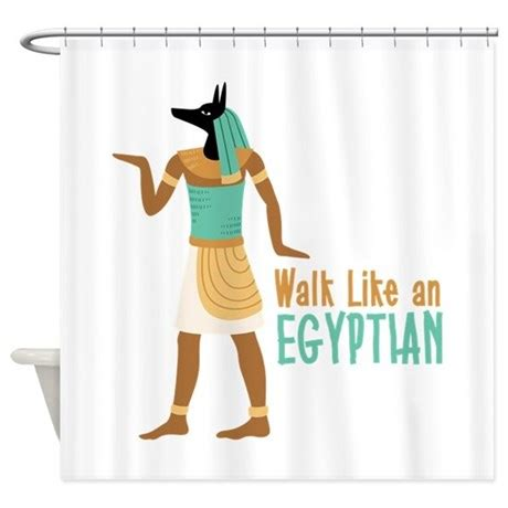 Housewarming Gift by Walk Like An Egyptian Shower Curtain By Hopscotch13
