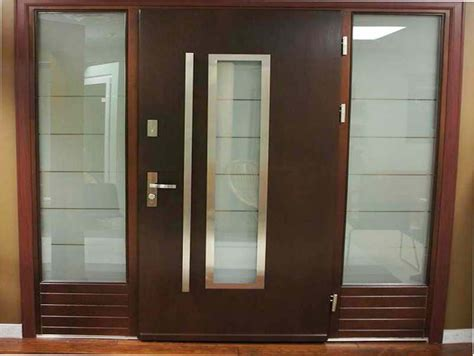 contemporary front doors materials options   house