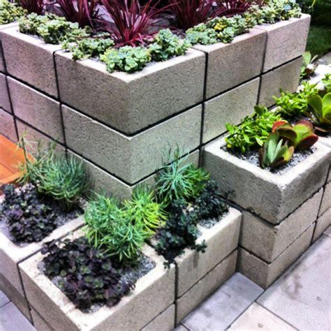 Cement Block Planter My Secret Garden Pinterest Concrete Block Planters
