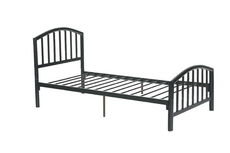measurements of a twin bed f9018t twin size bed frame by poundex