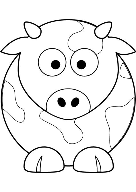 Cow Coloring Pages Cow Free Coloring Page by Cow Coloring Pages
