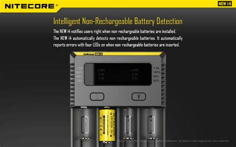 Nitecore Intellicharger Universal Battery Charger 4 Slot For Li Ion And Nimh I4 nitecore intellicharger universal battery charger 4 slot for li ion and nimh new i4 black