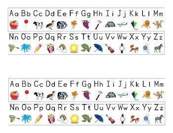 printable alphabet strip alphabet strip by kinder garden teachers pay teachers