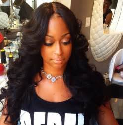 invisible part hair style invisible part sew in wig hairstyles pinterest