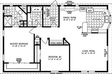 1000 sq ft house plans 2 bedroom 1000 to 1199 sq ft manufactured home floor plans jacobsen homes