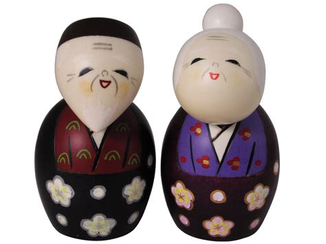 Canisters Sets For The Kitchen by Adorable Hand Made Grandparents Japanese Kokeshi Dolls Set