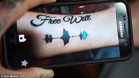 get tattoo app sound wave tattoo lets you listen to your body art