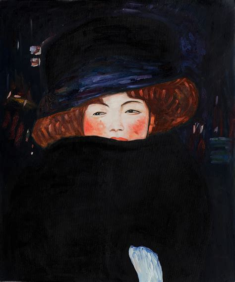gustav klimt lady with lady with hat by gustav klimt for sale jacky gallery