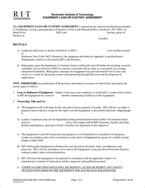 Personal Agreement Letter Template 5 Sle Personal Loan Agreement Teknoswitch