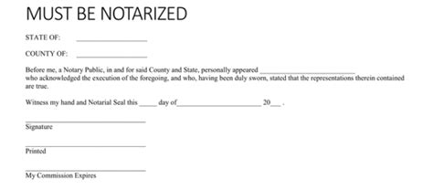 notarized letter templates sample letters word