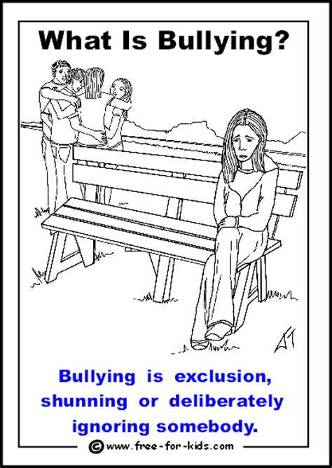 free coloring pages of anti bullying