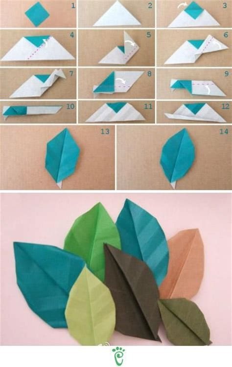 How To Make Paper Leaves - 25 best ideas about diy origami on origami