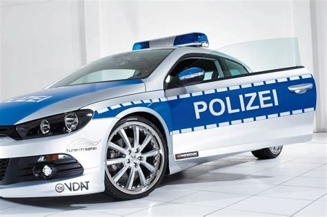 polizei wagen essen 2008 vw scirocco tune it safe polizei style