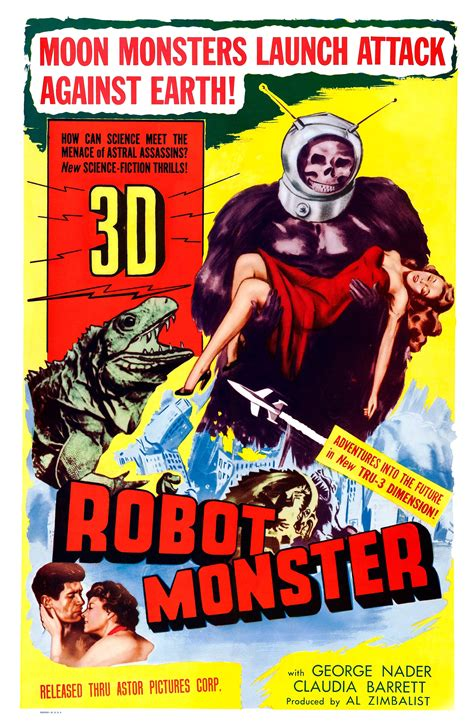 film robot monster poster for robot monster 1953 usa wrong side of the art