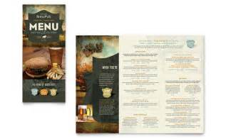brewery amp brew pub take out brochure template design