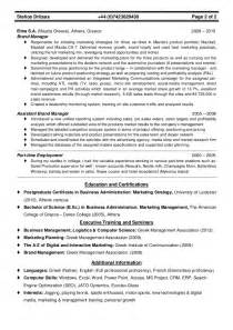 Brand Manager Sle Resume by Cv Brand Product Marketing Manager Stelios Dritsas