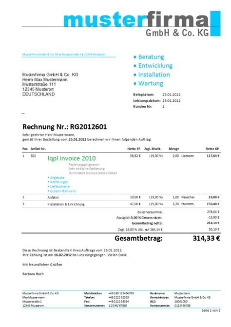 Vorlage Rechnung Freiberufler Word rechnungsvorlage word schweiz kostenlos