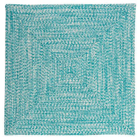 square braided rug home decorators collection marilyn tweed aqua 8 ft x 8 ft square braided rug ca19r096x096r