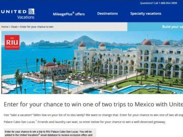 United Sweepstakes - united vacations trip giveaway sweepstakes