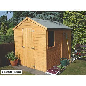 Shed Felt Screwfix by Shire 8 X 6 Nominal Apex Shiplap T G Timber Shed