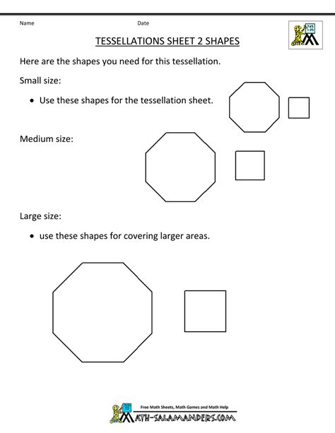 printable shapes for tessellation image gallery tessellation activities