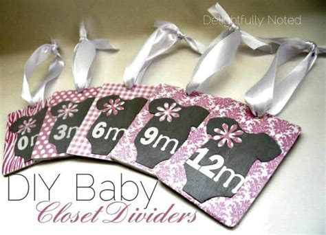Baby Handmade Gifts - 20 easy diy baby closet dividers to organize baby clothes
