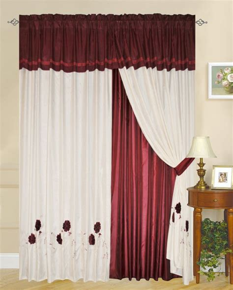 red white curtains red curtain design myideasbedroom com