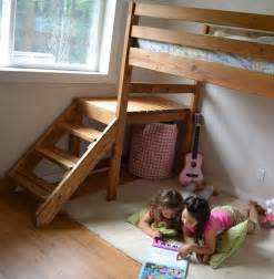 Diy Loft Bed Frame White C Loft Bed With Stair Junior Height Diy