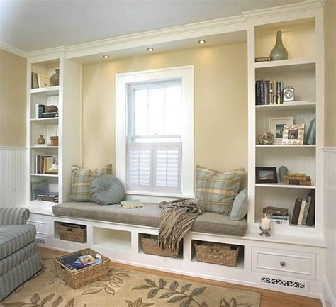 make window seat built in book shelves and seating area build me a castle