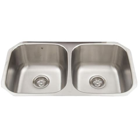 vigo stainless steel undermount double bowl kitchen sink