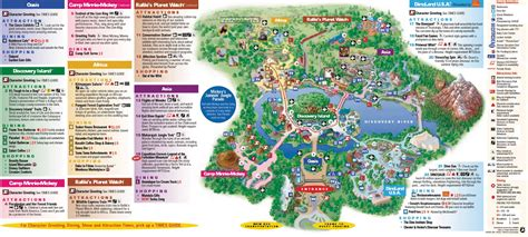 map of animal kingdom orlando team parks and maps