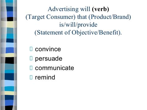 verb pattern persuade ad caign guidelines