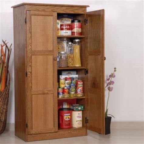 Food Storage Cabinet Concepts In Wood Multi Purpose Storage Cabinet Pantry Oak Walmart
