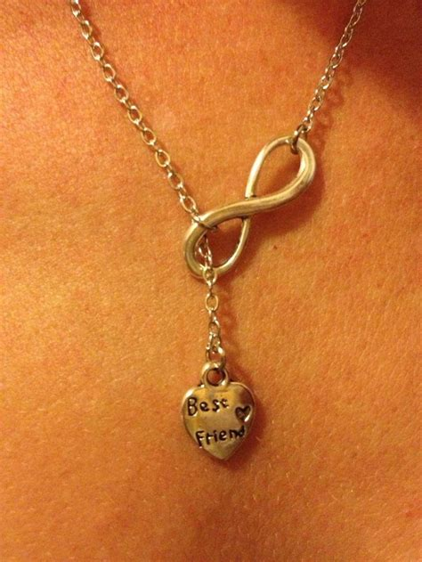 best friends forever drop necklace my best friend
